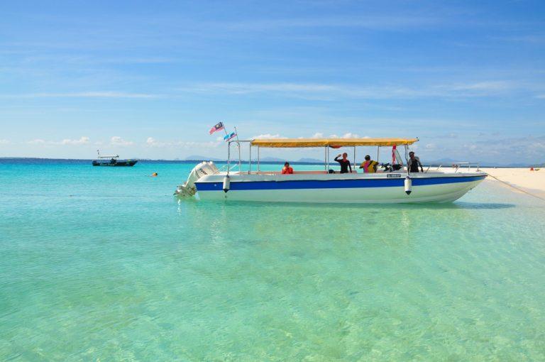 Boat at Pulau Mabul